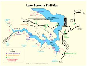 Lake Sonoma Trail Map