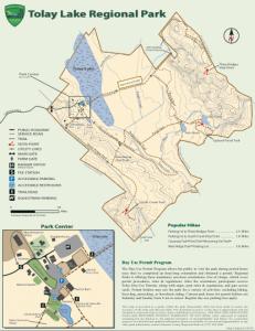 Tolay Lake Regional Park Map