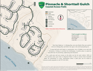 Pinnacle and Shorttail Gulch Coastal Access Trail Map
